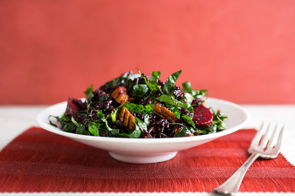 Kale Salad with Beets & Wild Rice