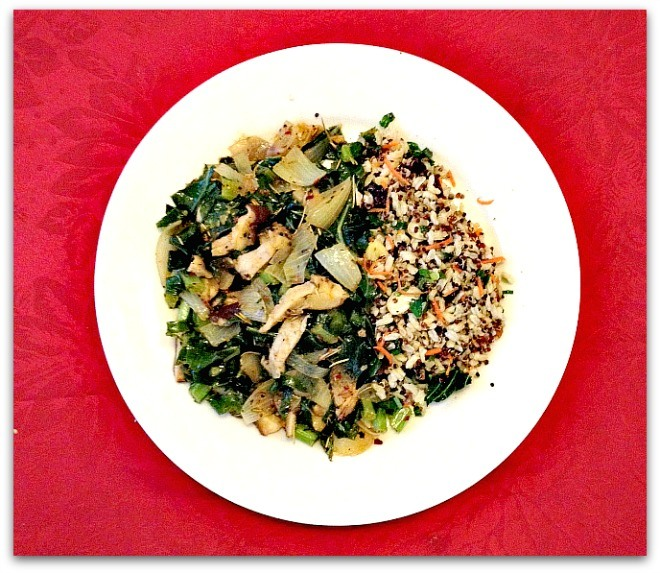 Vegetarian Collard Greens with Shiitake Mushrooms